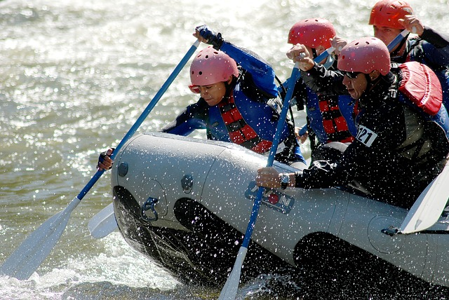 rafting at the whitewater center