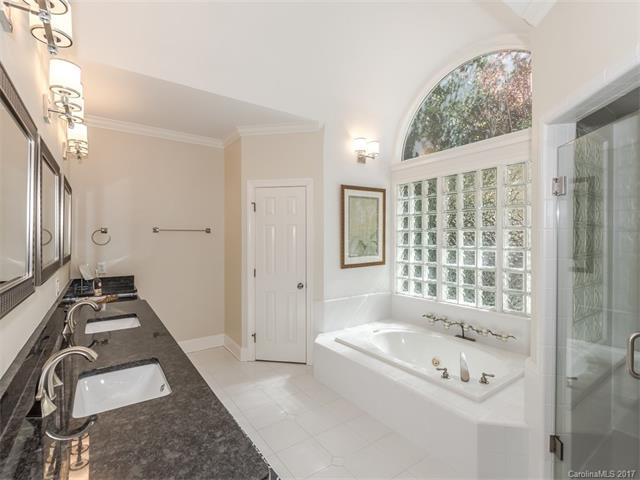 master bathroom in a Charlotte home