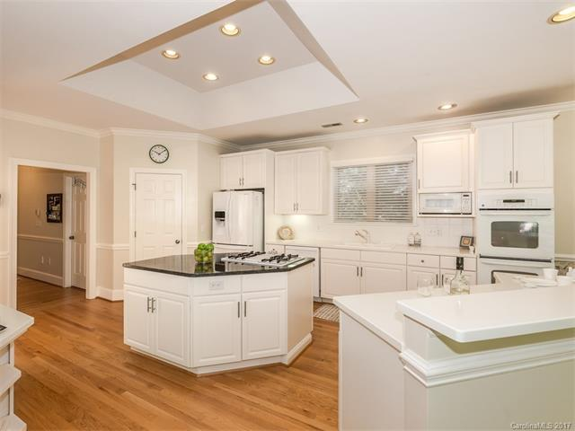 white kitchen cabinets in Charlotte home